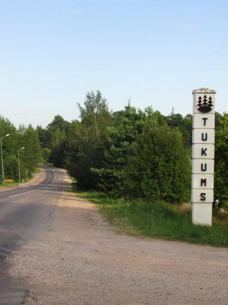 Finding a camping spot in Tukums, Latvia