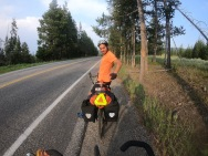 When riding into Yellowstone don't forget to bring your bear mace and your high vis reflector!