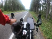 The roads were really nice leading out of Yellowstone. This was shortly before we got rained and hailed on!