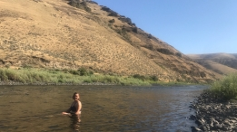 Bathing in the river