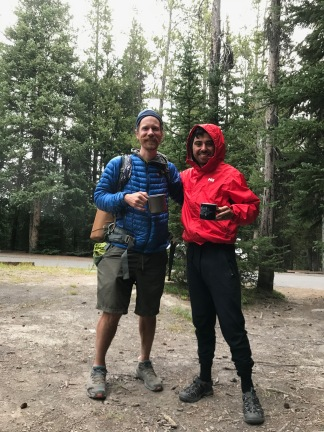 We camped with 'Action Jackson' as he was on his way to complete the Continental Divide Trail - which is a difficult hike from Mexico to Canada.
