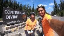 Crossing the continental divide again. The elevation is starting to go up!