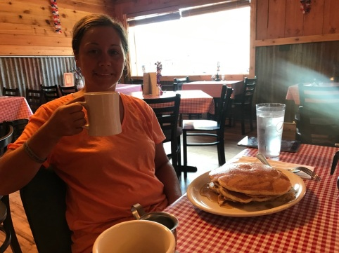 Council Mountain Coffee had $2.99 all you can eat pancakes. They were huge!