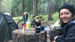 Once again - the kindness of strangers is so great. We got to this campsite (Colgate Licks) just as it was turning dark. The campsite was full but multiple people in RVs offered us a spot to pitch our tent.