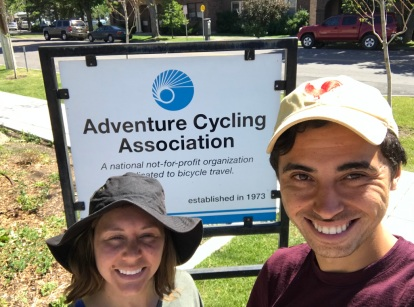 Had to stop at the Adventure Cycling Association headquarters! The ACA is a non-profit which exists to promote and support bicycle travel. They plan the best routes in the USA, such as the popular TransAmerica route we've been following. Inside the ACA, they gave us a tour of the history of bicycle touring, helped us plan our route with their mapping team and gave us free ice cream and soda!