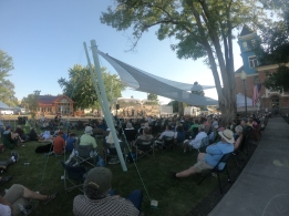 There was a free Bluegrass Festival at Fossil.