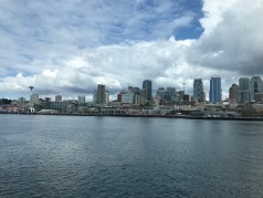 The view from the Bainbridge Island ferry on the way to starting our adventure