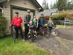 All four of us stayed with Lauri in Aberdeen, WA. We had a blast!
